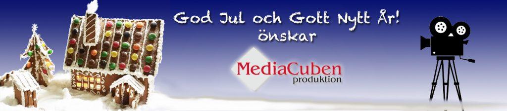 God Jul och Gott Nytt År önskar MediaCuben
